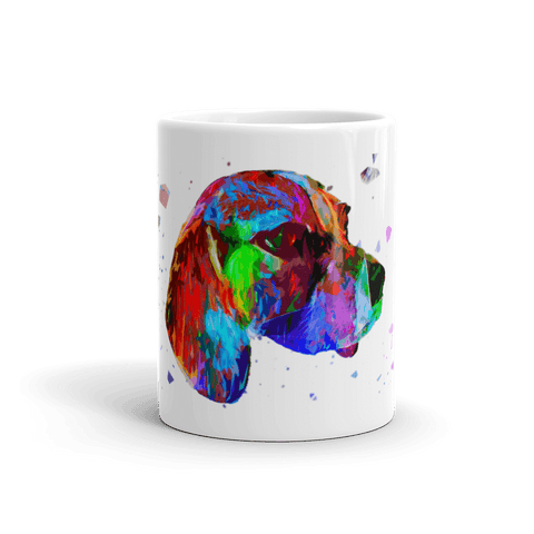 Beagle Colorful Poly 11oz Mug - Front View