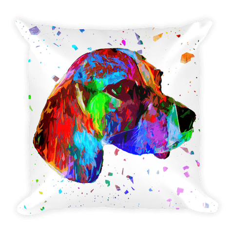 Beagle Fiber Colorful Poly Decorative Pillow - Front View