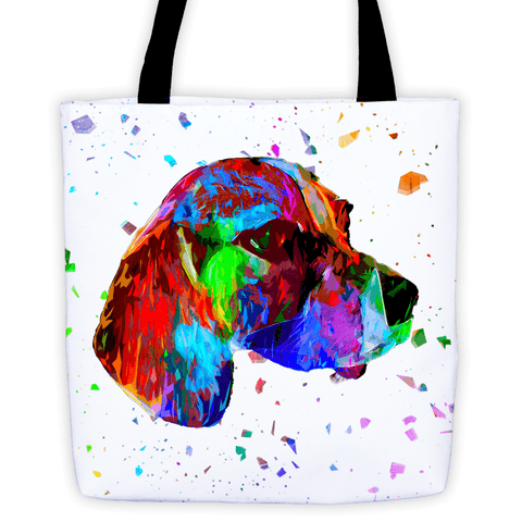 Beagle Colorful Poly All-Over Tote Bag