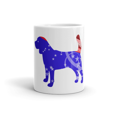 Beagle Patriotic Shape 11oz Mug - Front View