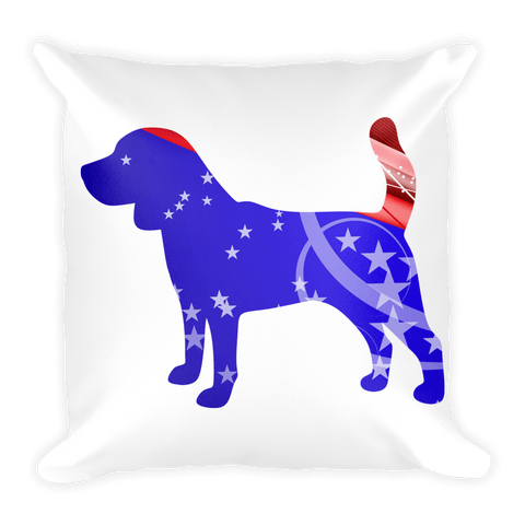 Beagle Patriotic Shape Decorative Pillow