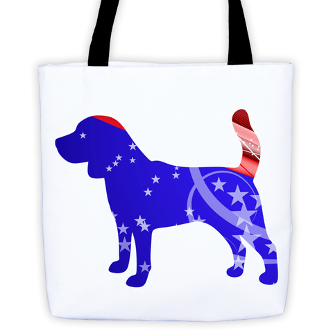 Beagle Patriotic Shape All-Over Tote Bag