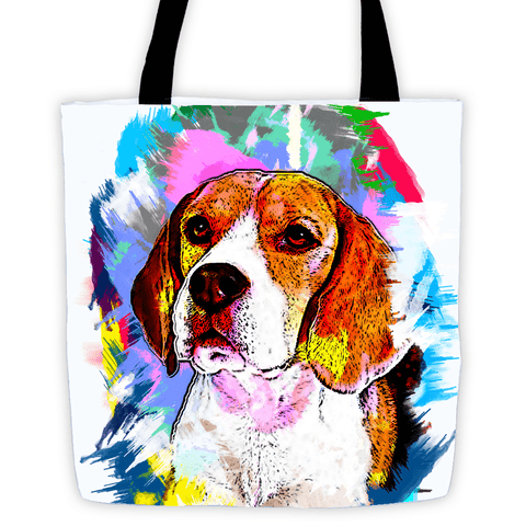 Beagle Artistic Photo Art All-Over Tote Bag