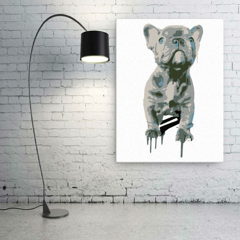 Blue Frenchie Celebration - Canvas