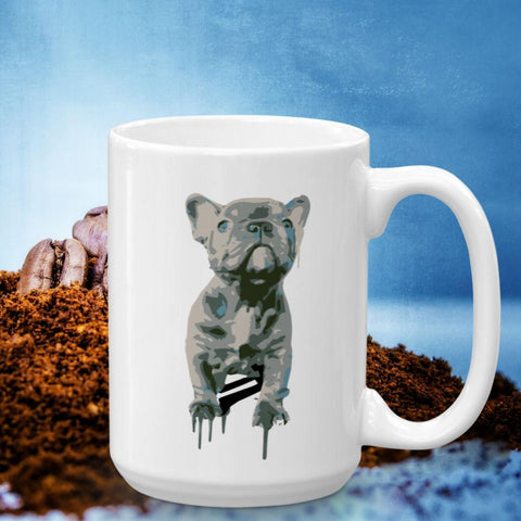 Blue Frenchie Celebration - 15oz Mug