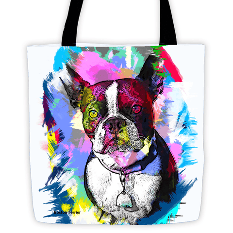 Boston Terrier Artistic Photo Art All-Over Tote Bag - Colorful