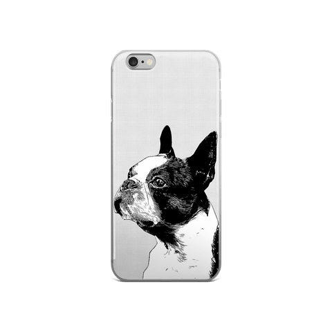 Boston Terrier Duotone Comic iPhone 6/6s Case