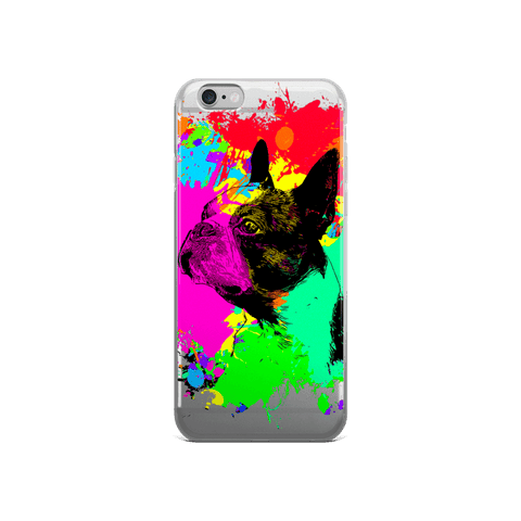 Boston Terrier Colorful Splash Paint iPhone 6/6s Case