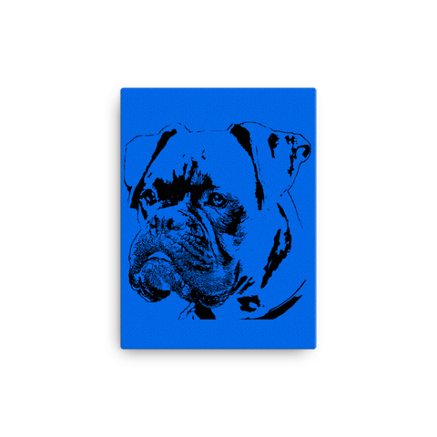 Boxer Duotone Comic Canvas - Blue