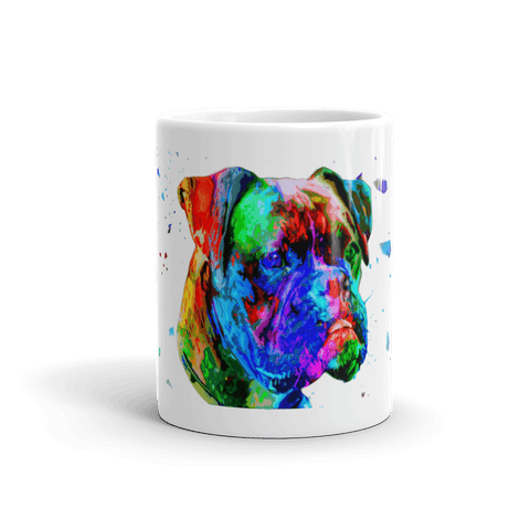 Boxer Colorful Poly Art 11oz Mug - Front View
