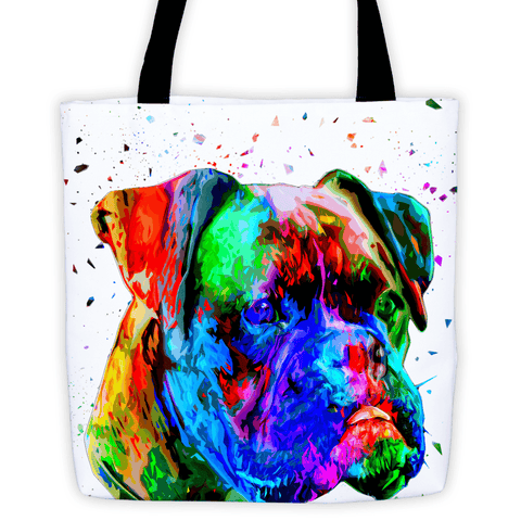 Boxer Colorful Poly Art All-Over Tote Bag