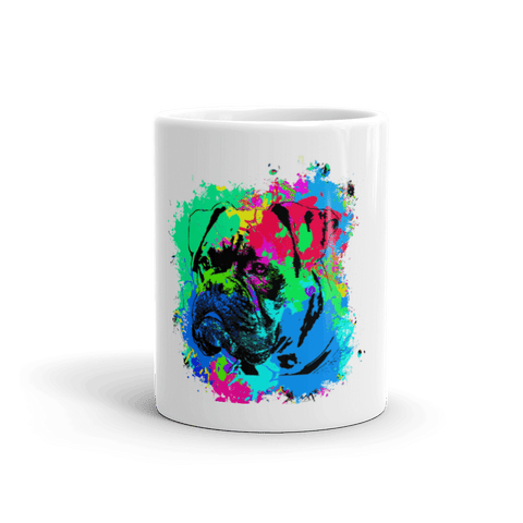 Boxer Colorful Splash Paint 11oz Mug - Front View