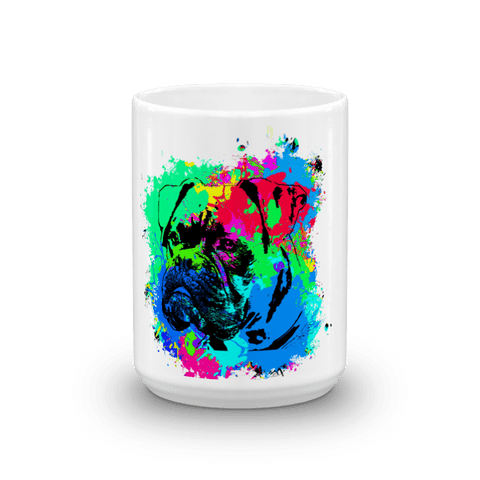 Boxer Colorful Splash Paint 15oz Mug - Front View