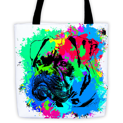 Boxer Colorful Splash Paint All-Over Tote Bag