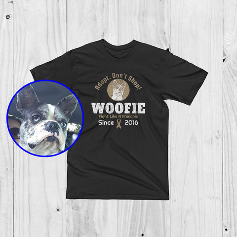 Personalized Brand Logo Of Your Pet - My Rescue - Unisex T-Shirt For Proud Dog Lovers