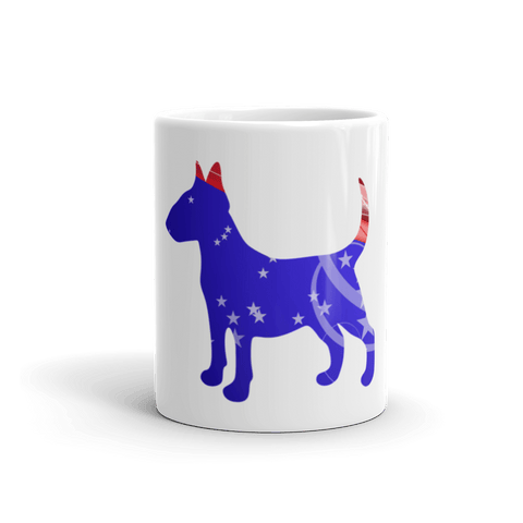 Bull Terrier Patriotic Shape 11oz Mug - Front View