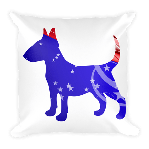 Bull Terrier Patriotic Shape Decorative Pillow