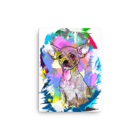 Chihuahua Artistic Photo Art Canvas 12x16