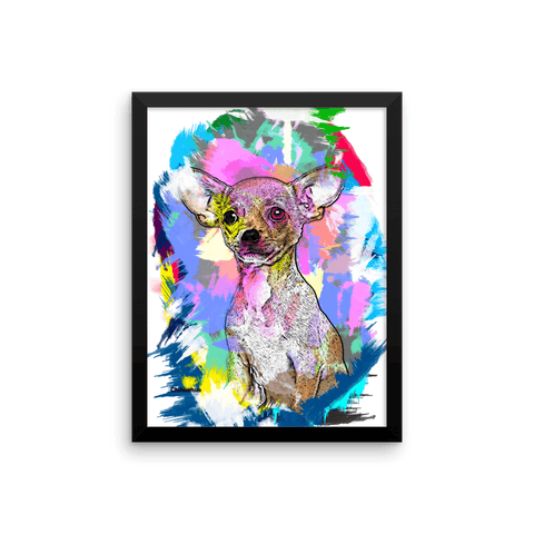 Chihuahua Artistic Photo Art Framed Poster 12x16