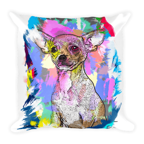 Chihuahua Artistic Photo Art Decorative Pillow - Front View
