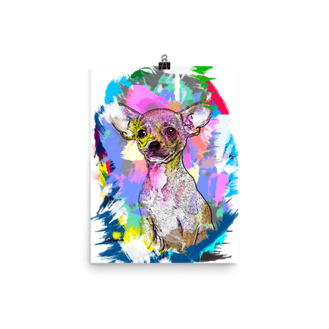 Chihuahua Artistic Photo Art Poster 12x16