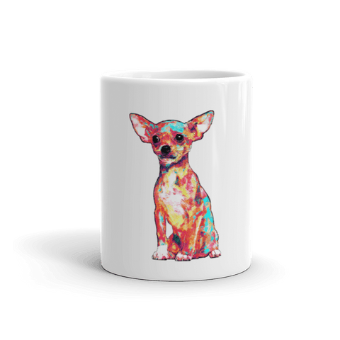 Chihuahua Colorful Painting 11oz Mug - Front View