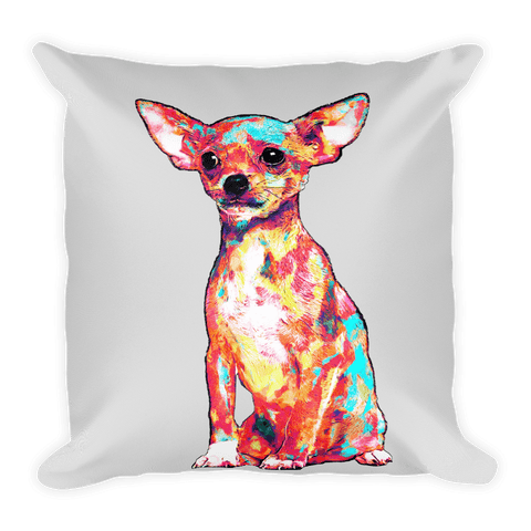 Chihuahua Colorful Painting Decorative Pillow