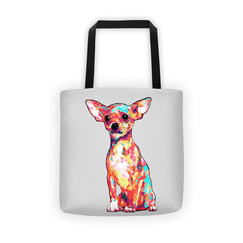 Chihuahua Colorful Painting All-Over Tote Bag