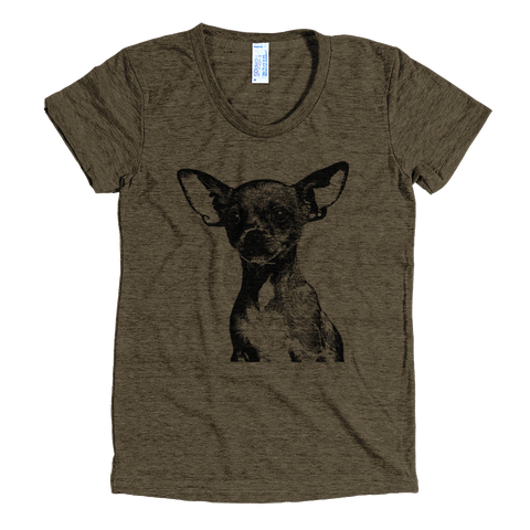 Chihuahua - Women's T-Shirt - American Apparel Tri-Blend - Coffee
