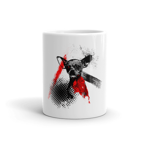 Chihuahua Trash Polka Tattoo Style 11oz Mug - Front View