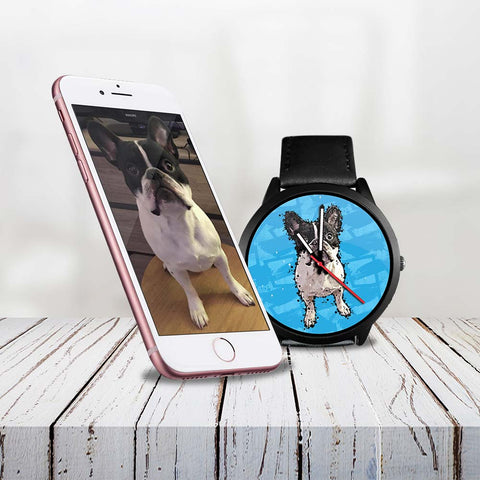 Custom Men Women Watch Of Your Pet - Paint Art