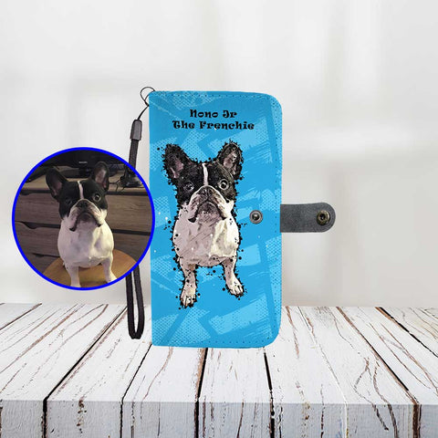 Custom Paint Art - Print Your Dog On Wallet Phone Case - ProudlyPaw Mascot Example Preview