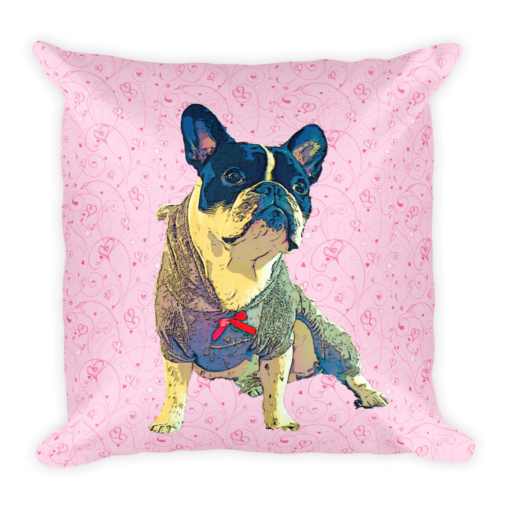 e8a0ef6b15bb ... Custom Pillow of your Dog- Valentine's Day Edition - Nono Jr Example  with Love Background ...
