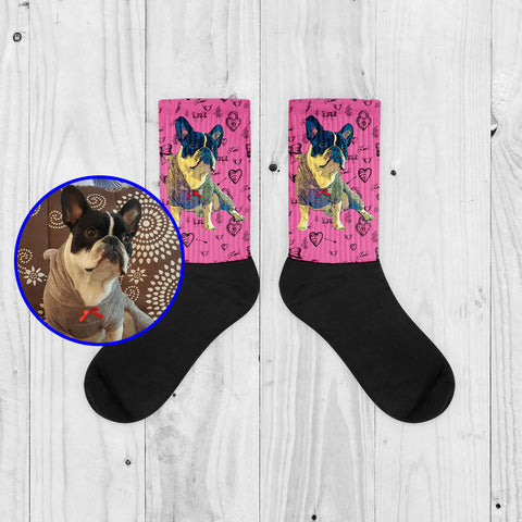 Custom Socks of your Pet - Valentine Edition - Fashion Accessories for Dog Lovers