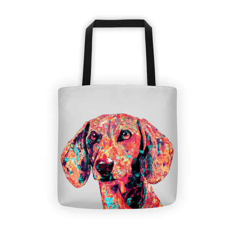Dachshund Colorful Painting All-Over Tote Bag