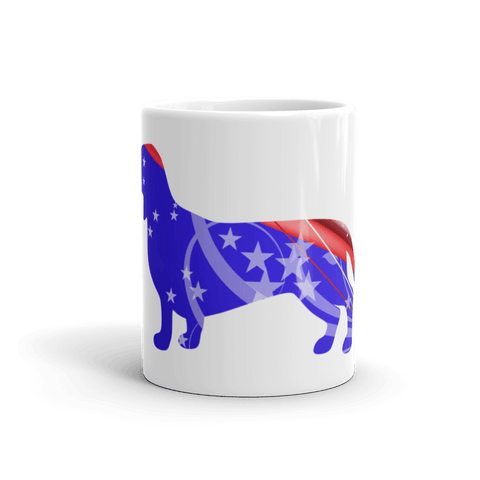 Dachshund Patriotic Shape 11oz Mug - Front View