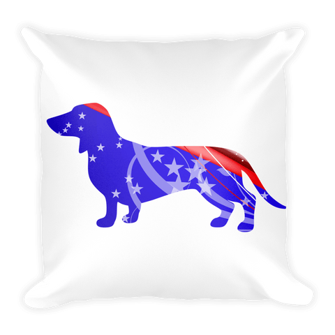 Dachshund Patriotic Shape Decorative Pillow