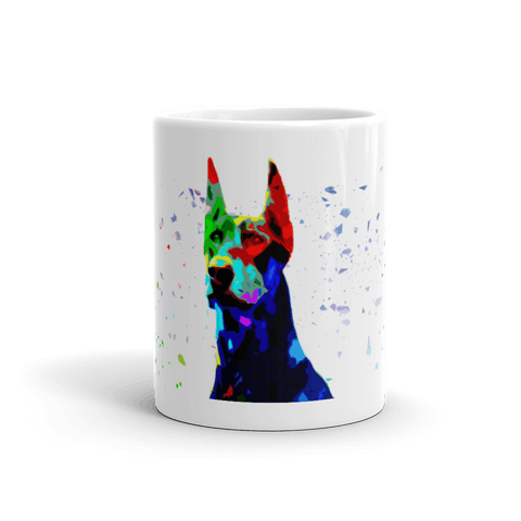 Doberman Colorful Low Poly 11oz Mug - Front View