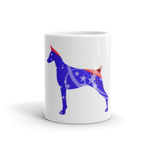 Doberman Patriotic Shape 11oz Mug - Front View