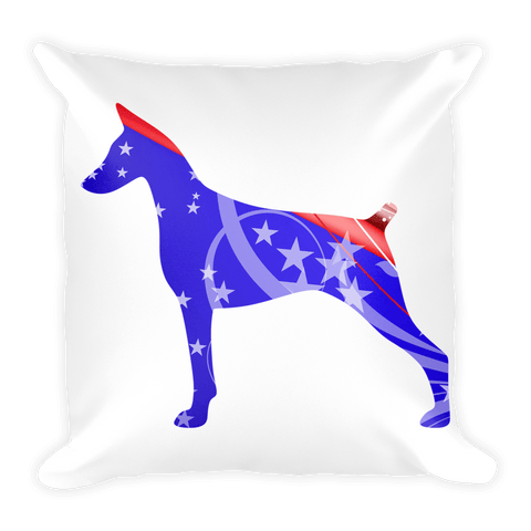 Doberman Patriotic Shape Decorative Pillow