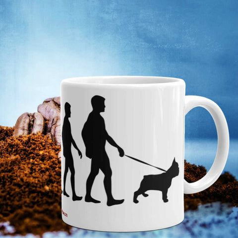 Evolution French Bulldog - Mug 11oz Ceramic