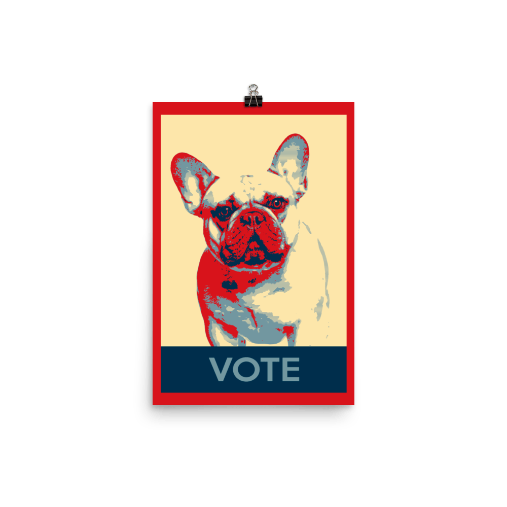 French Bulldog Election Vote Poster Wall Art Home Decor US Election ...