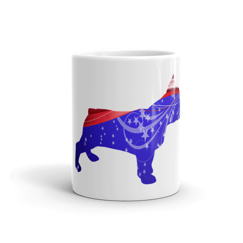 French Bulldog Patriotic Shape 11oz Mug