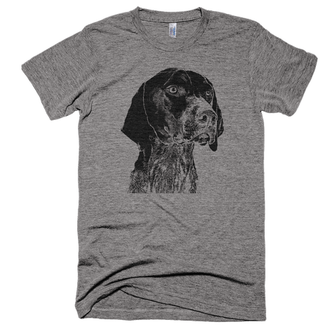 German Shorthaired Pointer T-Shirt - Tri-Blend Athletic Grey