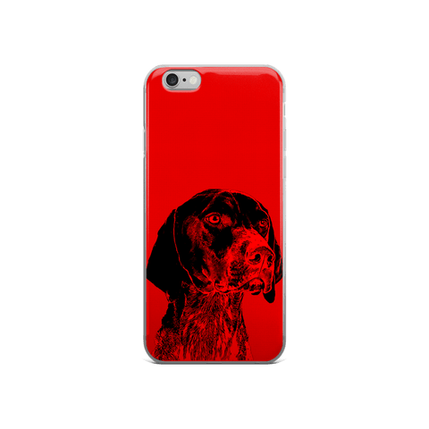 German Shorthaired Pointer Duotone Comic Red iPhone 6/6s Case