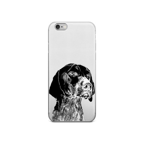 German Shorthaired Pointer Duotone Comic iPhone 6/6s Case