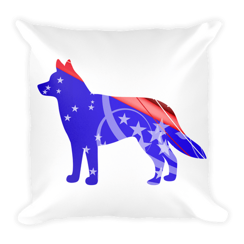 Siberian Husky Patriotic Shape Decorative Pillow