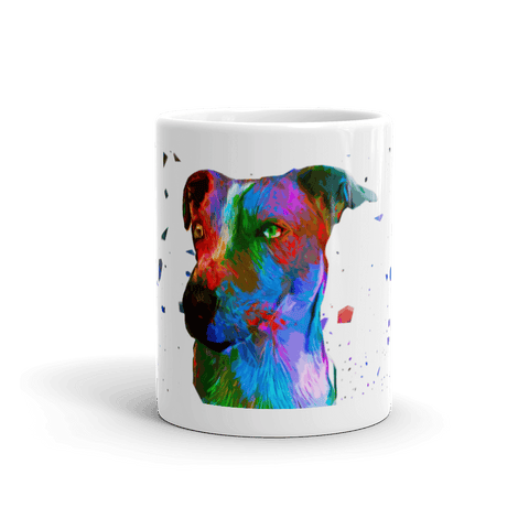 Jack Russell Terrier Colorful Poly Art 11oz Mug - Front View