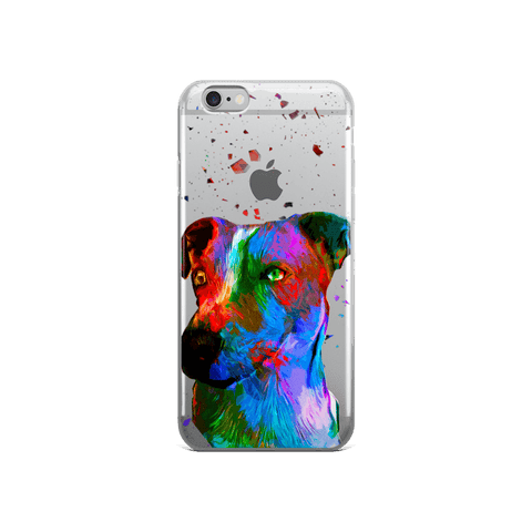 Jack Russell Terrier Colorful Poly Art iPhone 6/6s Case