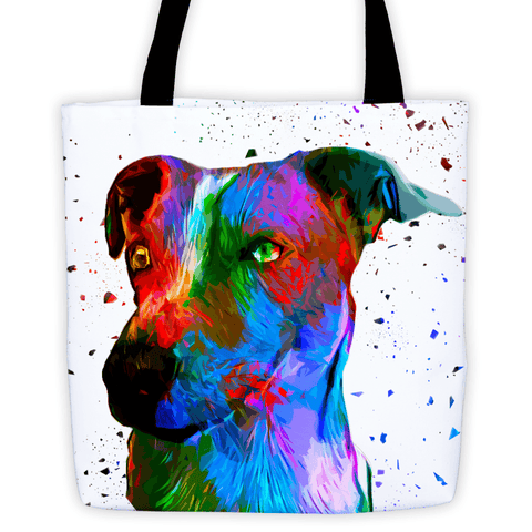 Jack Russell Terrier Colorful Poly Art All-Over Tote Bag
